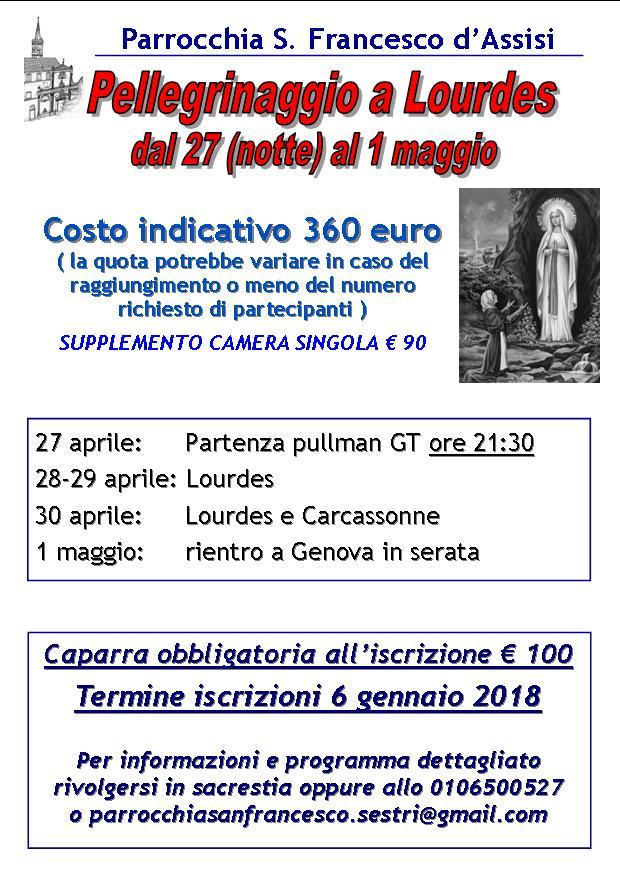 Pellegrinaggio Lourdes 2017